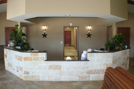 Reception Desk for Animal Hospital of Montgomery